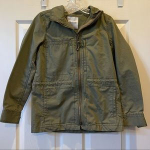 Madewell Small Army Green Zip Up Utility Jacket